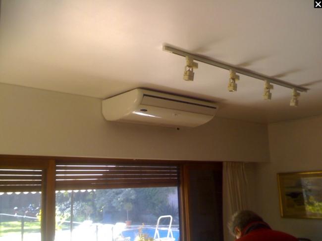 Acondicionamiento de aire sistema split piso techo y - Puertas de piso a techo ...